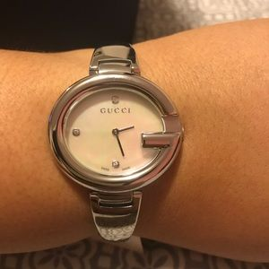 Gucci Accessories - Gucci Guccissima Large Stainless Steel BangleWatch